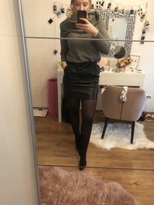 Only Falda de cuero negro
