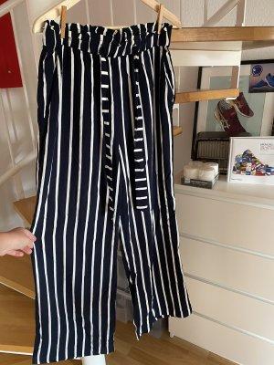 H&M Marlene Trousers white-dark blue