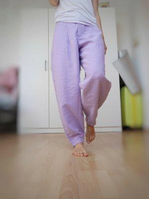 Zara Pantalon fuselé violet lyocell