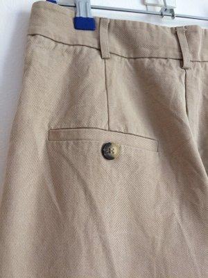 H&M Pantalón de cintura alta beige Algodón