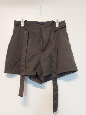 Paperbag Shorts in anthrazit