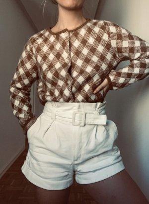 Zara Pantalón corto de talle alto blanco-blanco puro