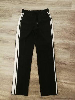 Hallhuber Baggy Pants white-black