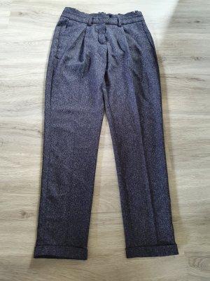Opus Paperbag Trousers dark blue