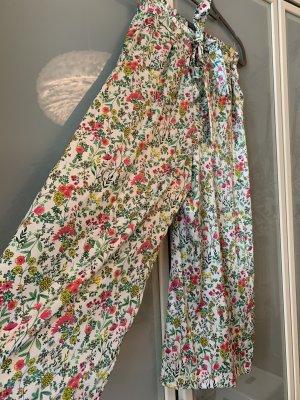 Paperbaghose, frisches Blumenmuster