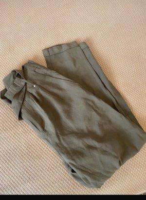 Amisu Pleated Trousers olive green