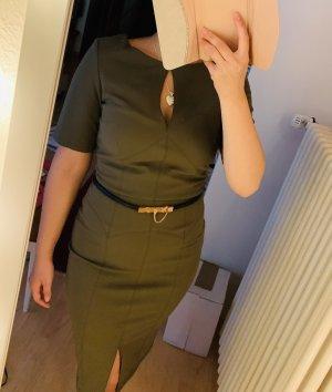 Paperdolls Dress Elegant Bleistift Khaki Gürtel Neu