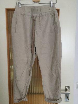 Pull & Bear Pantalón de lino multicolor