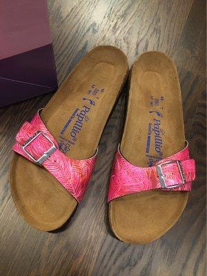 Papillio Birkenstock Sandalen Schuhe Hausschuhe Gr. 40 Neu mit Etikett Madrid Birko-Flor Softfootbed
