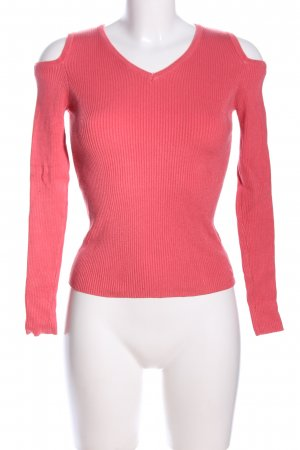 Papillonne Cut-Out-Top pink Streifenmuster Casual-Look