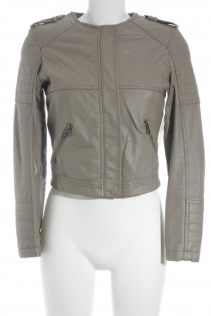 Papillonne Leather Jacket beige casual look