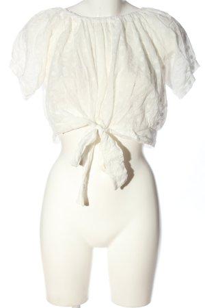 Papillonne Slip-over Blouse white allover print casual look