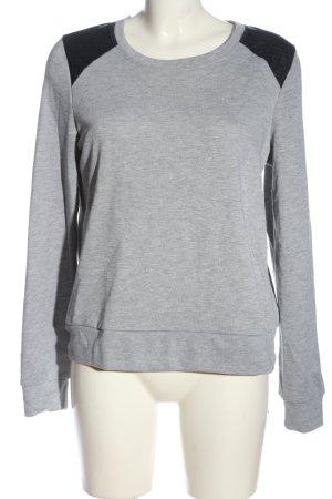 Papillonne Crewneck Sweater light grey-black flecked casual look