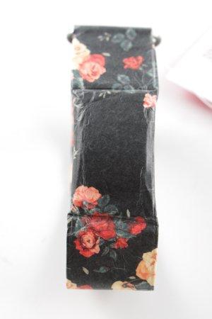 Paprcuts Digitaluhr schwarz-rot Blumenmuster Casual-Look