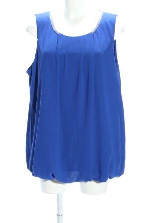 Paprika ärmellose Bluse blau Casual-Look