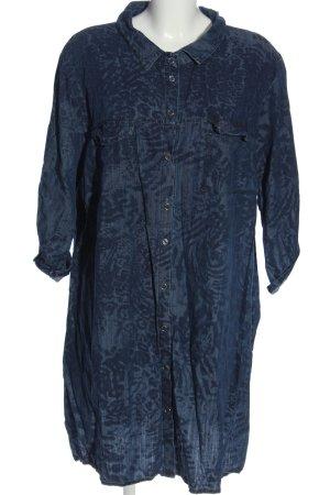 Paprika Shirtwaist dress blue-black allover print casual look