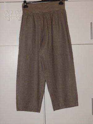 Paprika: neue Leinenhose mit elastischem Bund, 7/8 Länge, ohne Taschen,  Farbe Khaki,  Gr. 1 (44)