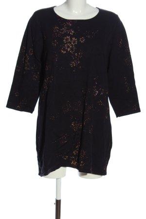 Paprika Pulloverkleid schwarz-nude Allover-Druck Casual-Look