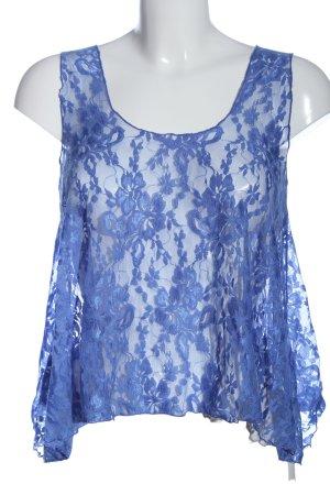Paprika Koronkowy top niebieski W stylu casual