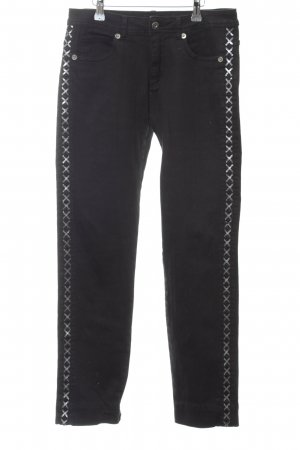 Paprika Stretch Jeans schwarz Nietenelemente