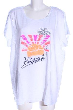 Paprika T-Shirt weiß Motivdruck Casual-Look
