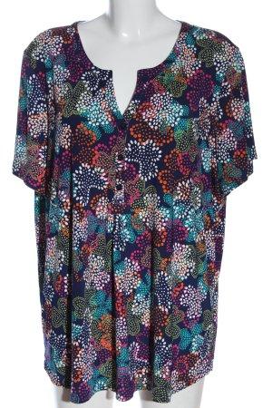 Paprika T-shirt col en V motif abstrait style décontracté