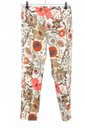 Paquito Stoffhose weiß-hellorange Allover-Druck Casual-Look