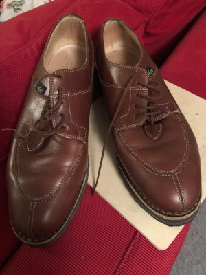 Para mí Oxfords cognac-coloured