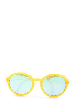 Parafina Lunettes de soleil rondes jaune primevère style décontracté