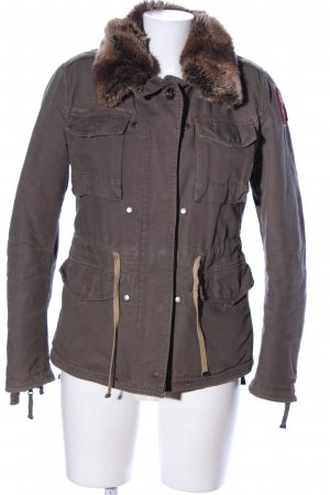 Parajumpers Winterjacke hellgrau Casual-Look