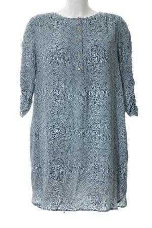 Paramita Blusenkleid blau-hellgrau Allover-Druck Casual-Look