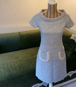 Parantez Kleid blau weiß 36 S