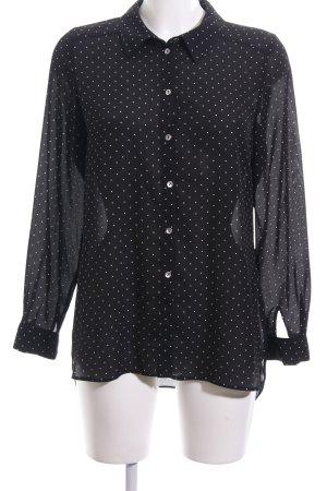 Paraphrase Langarm-Bluse schwarz-weiß Punktemuster Casual-Look