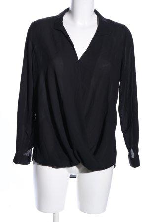 Paraphrase Langarm-Bluse schwarz Casual-Look