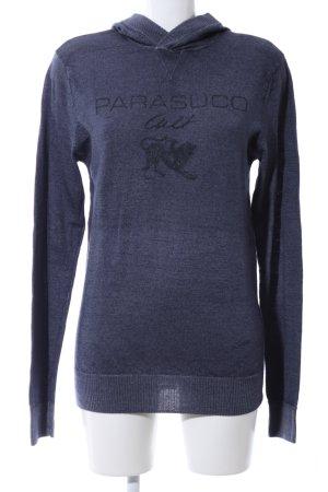 Parasuco Kapuzenpullover blau Motivdruck Casual-Look