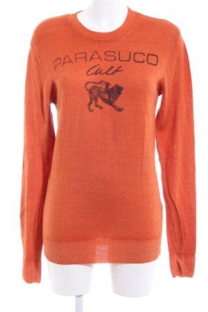 Parasuco Sweatshirt hellorange-braun Motivdruck Casual-Look
