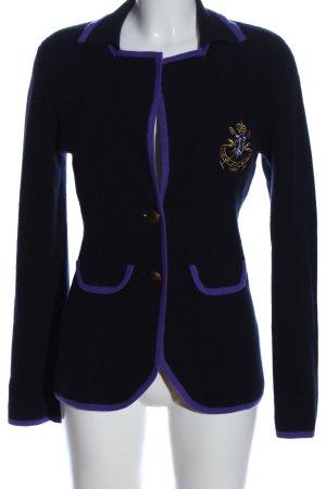 Parenti's Pullover in cashmere blu-oro Stampa a tema stile casual