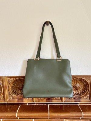 Parfois grüne Tasche mit gold Akzenten - wie neu