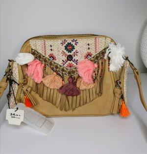 Parfois hippie Boho Handtasche mit Bommeln