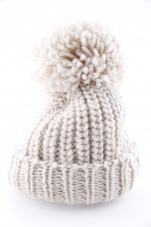Parfois Pom-pom muts wolwit kabel steek casual uitstraling