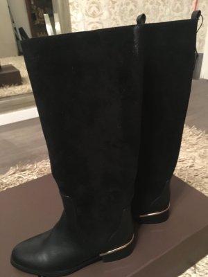 Parfois Botas de equitación negro-color oro