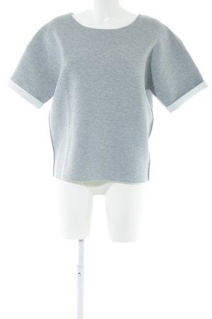Parfois Sweatshirt hellgrau-weiß Allover-Druck Casual-Look