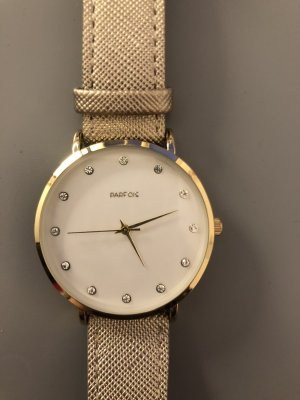 Parfois Watch With Leather Strap gold-colored