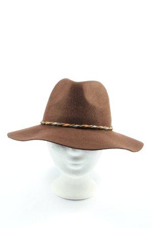 Parfois Wełniany kapelusz brązowy W stylu casual