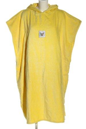 PARI Robe à capuche jaune primevère style décontracté