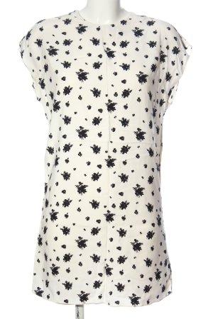 Paris Atelier Hemdblusenkleid wollweiß-schwarz abstraktes Muster Casual-Look