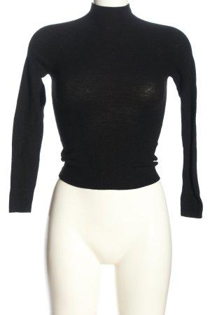 Paris Atelier Maglia a collo alto nero stile casual