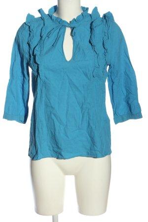 Paris Atelier Schlupf-Bluse blau Casual-Look