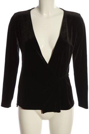 Paris Atelier Wickel-Bluse schwarz Casual-Look