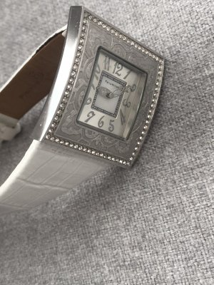 Paris hilton Watch With Leather Strap white-silver-colored